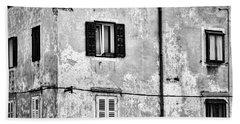 Beach Sheet featuring the photograph Piran Windows - Slovenia by Stuart Litoff