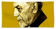 Beach Sheet featuring the digital art Pirandello by Asok Mukhopadhyay