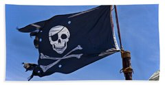 Pirate Flag Skull And Cross Bones Beach Towel