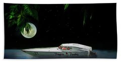 Pirate Racing Beach Towel by Michael Cleere