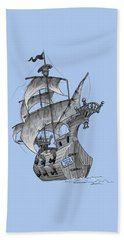 Pirate Ship Beach Sheet