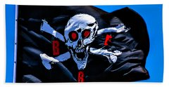 Pirate War Flag Beach Towel