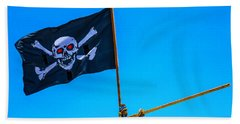 Pirates Death Black Flag Beach Towel