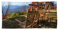 Pisgah Inn's Rocking Chairs Beach Towel