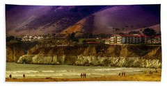 Beach Sheet featuring the photograph Pismo Beach Cove by Joseph Hollingsworth