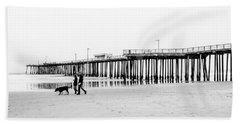 Pismo Beach Pier Beach Towel by Ralph Vazquez