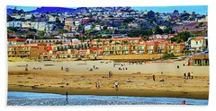 Beach Towel featuring the photograph Pismo Hilltop Ocean View by Joseph Hollingsworth