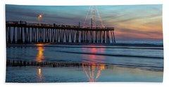 Pismo Pier Lights Beach Towel