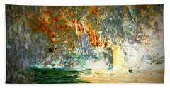 Pissarro's Garden Beach Towel by Nature Macabre Photography