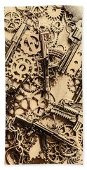 Pistol Parts And Rifle Pinions Beach Towel