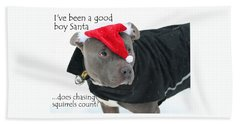 Pit Bull Christmas Two Beach Sheet