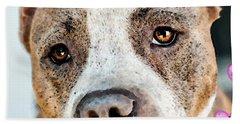 Pit Bull Dog - Pure Love Beach Towel