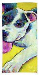 Pit Bull Puppy Beach Towel
