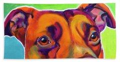 Pit Bull - Red Beach Towel