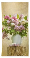 Pitcher Of Lilacs Beach Towel by Patti Deters