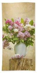 Pitcher Of Lilacs Beach Sheet