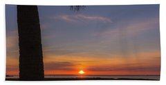 Beach Towel featuring the photograph Pitt Street Bridge Palmetto Sunset by Donnie Whitaker