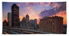Beach Towel featuring the photograph Pittsburgh Skyline  60 by Emmanuel Panagiotakis