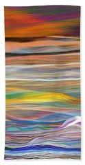 Beach Towel featuring the digital art Pittura Digital Ghibli1128 by Sheila Mcdonald