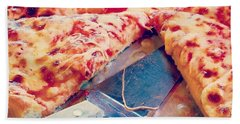 Beach Towel featuring the photograph Pizza by Raymond Earley