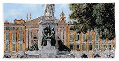 Place Garibaldi In Nice  Beach Towel