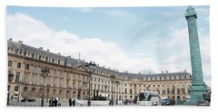 Place Vendome Beach Towel by Christopher Kirby