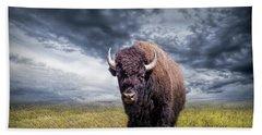Plains Buffalo On The Prairie Beach Sheet