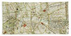 Beach Towel featuring the photograph Plan Of Central London by Patricia Hofmeester
