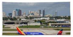 Planes By Fort Lauderdale Beach Towel