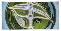 Beach Towel featuring the photograph Planet Of The Roundabouts by Randy Scherkenbach