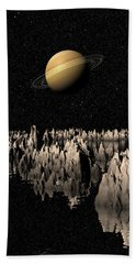 Planet Saturn Beach Towel by Phil Perkins