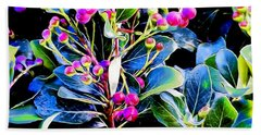 Plant 14 In Abstract Beach Towel
