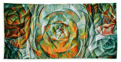 Beach Towel featuring the photograph Plant Abstract by Wayne Sherriff