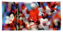 Plants And Flowers Beach Towel