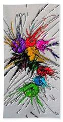 Plash Original Paint By Nico Bielow Beach Sheet by Nico Bielow