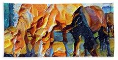 Plastic Horses Beach Towel