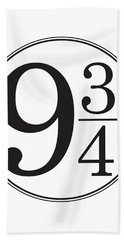 Platform Nine And Three Quarters - Harry Potter Wall Art Beach Towel