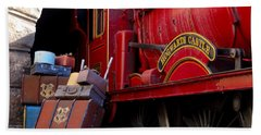 Beach Towel featuring the photograph Platform Nine And Three Quarters by Julia Wilcox