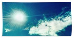 Platinum Rays And Angelic Cloud Bless The Prairie Beach Towel