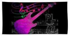 Beach Towel featuring the digital art Play 5 by Guitar Wacky
