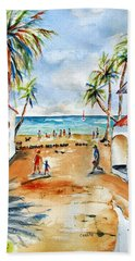 Playa Del Carmen Beach Sheet by Carlin Blahnik