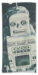 Playback The Antique Robot Beach Towel
