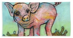 Playful Piglet Beach Towel