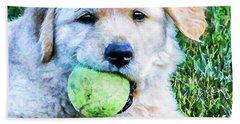 Playful Pup Beach Sheet