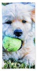 Playful Pup Beach Towel