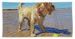 Playful Puppy Beach Towel