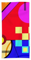 Beach Towel featuring the digital art Playful by Silvia Ganora