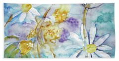 Beach Towel featuring the painting Playfulness by Jasna Dragun