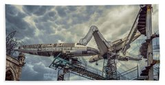 Beach Towel featuring the photograph Aerial Playground by Robert FERD Frank