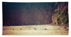 Playing Along Oceanside Oregon Beach Towel by Amyn Nasser
